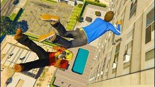 GTA 5 CRAZY Jumps/Falls Compilation #18 (GTA 5 Fails Funny Moments)