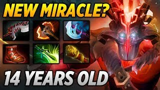 14 Years old Jugger [NEW MIRACLE?!] Dota 2