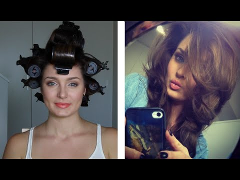How I Get Big Bouncy Hair with Rollers!