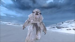 Star Wars Battlefront - Wampa (Close-Up Footage On Hoth)