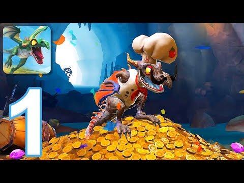 Hungry Dragon - Gameplay Walkthrough Part 1 - Nibbler (iOS, Android)