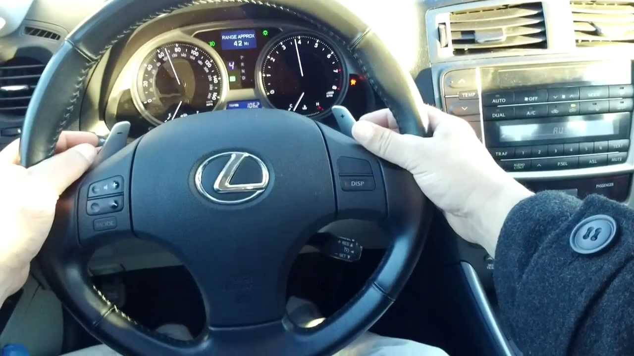 How To Drive With Paddle Shifters Lexus Is250 Amp Pivothead