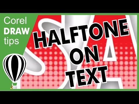 Halftone on text in CorelDRAW