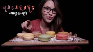 ASMR MACARONS TASTE TEST  ❤️ Satisfying EATING SOUNDS [deutsch/german]