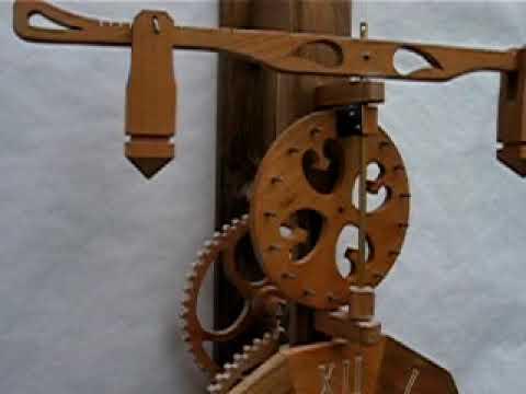 horloge bois prototype m canisme horloge en bois avec carillon video. Black Bedroom Furniture Sets. Home Design Ideas