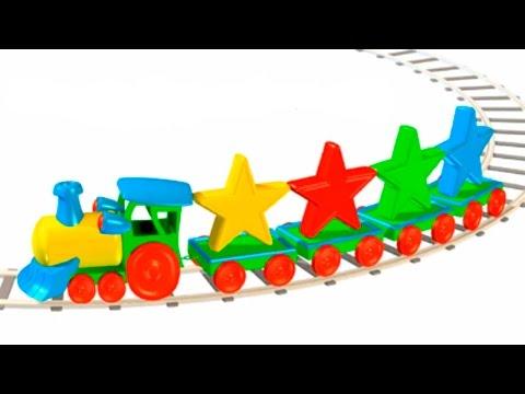 Cartoni Animati per Bambini - Cartoni Per Bambini - piccolo treno,  elicottero giocattolo, forme geometriche - Ciao, Maria