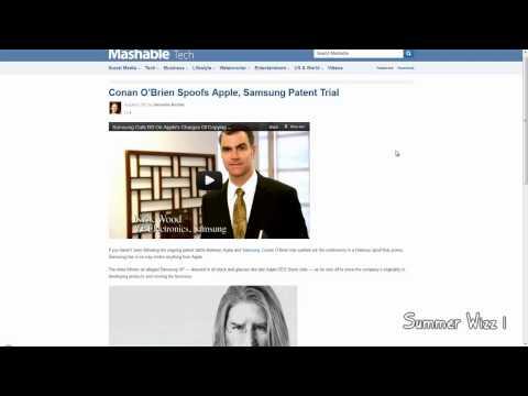 Conan O Brien Spoofs Apple vs Samsung Patent Trial