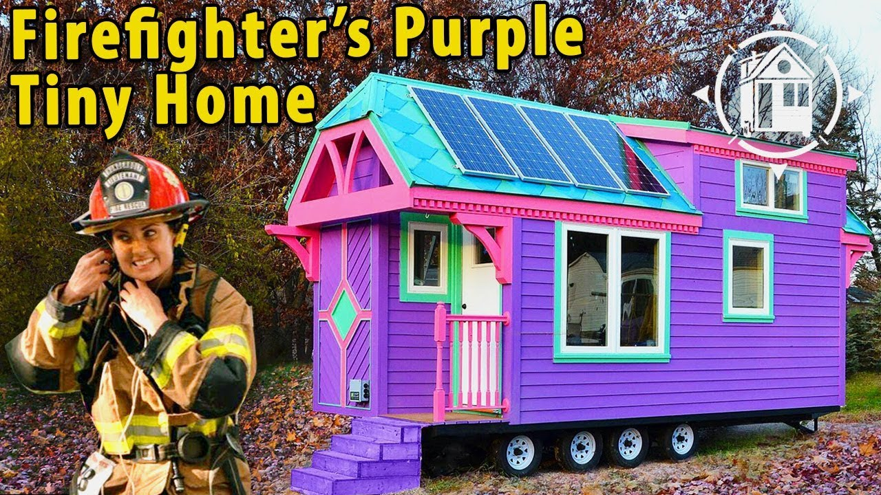 Colorful Victorian Tiny House for a Female Firefighter