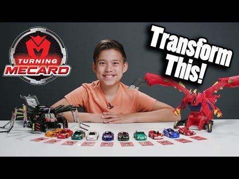 TURNING MECARD!!! Incredible Transforming Cars!