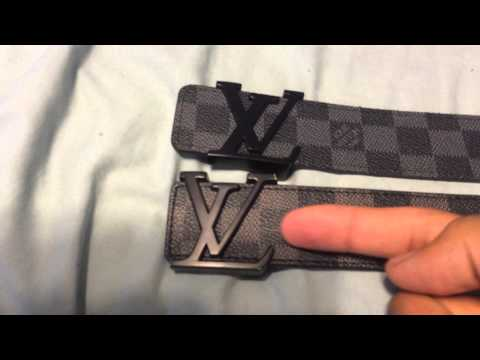 Louis Vuitton Belt - Real vs. Fake Comparison (Damier Graphite)