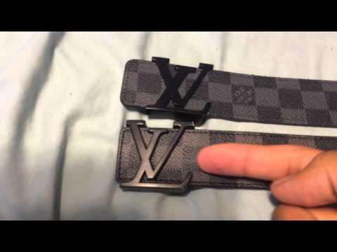 Louis Vuitton Belt - Real vs. Fake Comparison (Damier Graphite)
