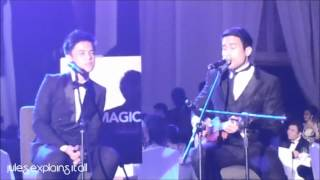 jules explains it all - Khalil Ramos and Sam Milby at the Star Magic Ball 2012