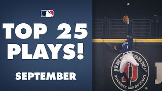 Top 25 MLB Plays of the Month (September) | Mike Trout, Albert Pujols, Manny Machado + more!