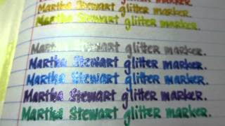 Martha Stewart Glitter Markers, Atyou Spica Markers, and Souffle and Glaze Pens Review