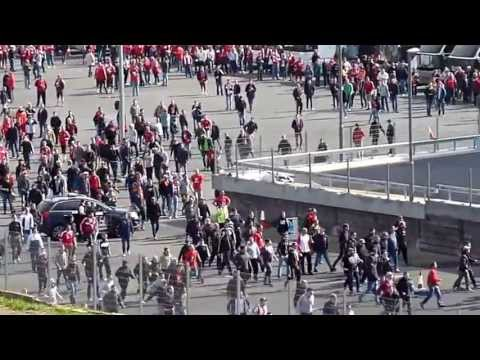 UEFA Final @ Wembley 25 May 2013 - German fans fighting
