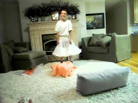 Boy Dancing in a Dress