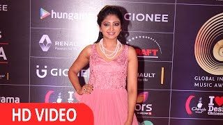 Singer Bhoomi Trivedi At Red Carpet Of GIMA Awards