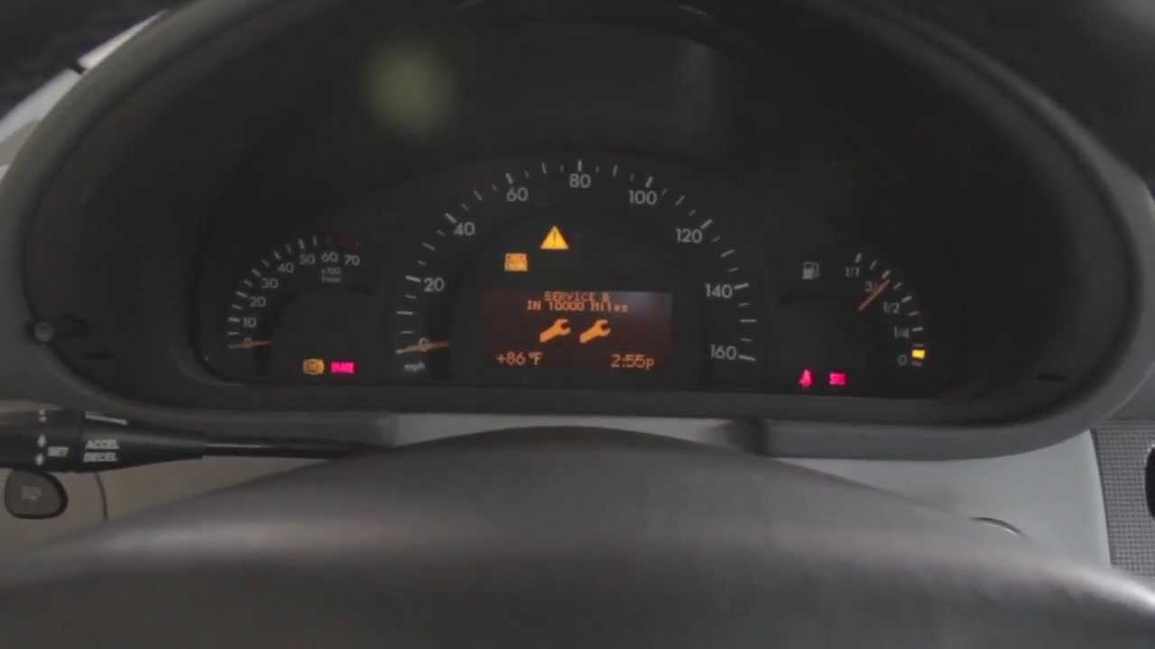Mercedes w203 service light reset youtube for Mercedes benz oil change interval