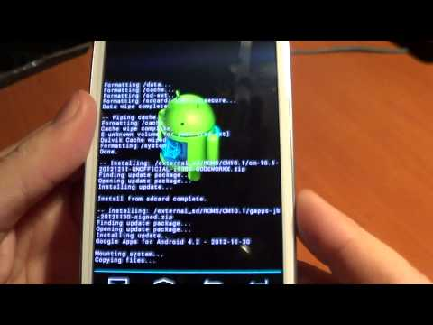 Install Cyanogenmod 10.1 Galaxy S3 Android 4.2.1 Jelly Bean  tutorial .
