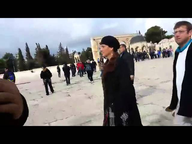 MK Shuli Muallem Harassed by Islamists on Temple Mount