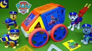 COOL NEW Paw Patrol Magnetic Magformers - Build VEHICLES With The Rescue Pups!
