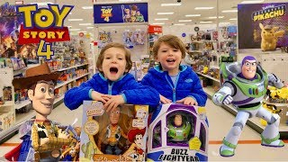 Disney Toy Story 4 Toy Hunt with Fun New Toys For Kids - Chase and Cole Adventures