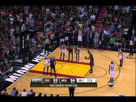 Final minute of Chicago Bulls vs Miami Heat