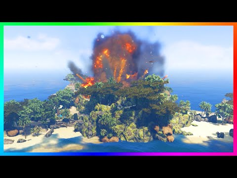 GTA 5 SECRET ERUPTING VOLCANO ISLANDS, TREASURE QUEST ISLANDS & PARADISE ISLAND EXPLORATION! (MODS)