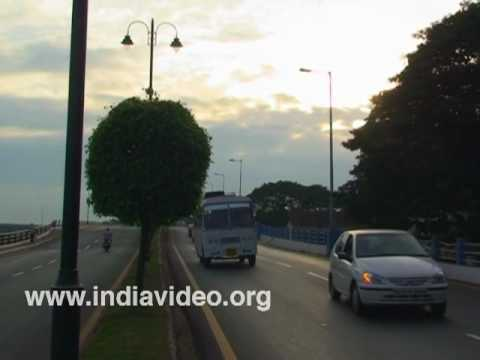 Goa - Konkan region, roads, traffic islands, buildings, India