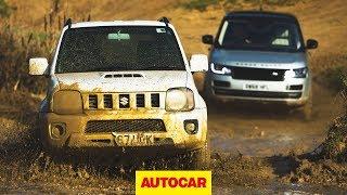 Range Rover Autobiography vs Suzuki Jimny - 4x4 face off | Autocar