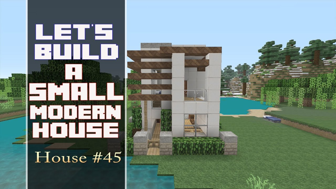 Let 39 s build a 15x15 lot modern house in minecraft house for Lets build modern house 7