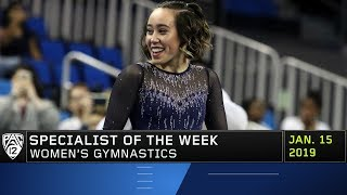 Katelyn Ohashi's jaw-dropping viral floor routine nets her Pac-12 Women's Gymnastics Specialist...