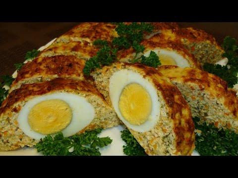 Куриный рулет с яйцом