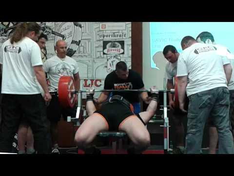 Bench Press RAW Meszaros Laszlo Węgry podczas ME GPC Trutnov 2014 300 kg !!! | StudioOdżywek.pl |