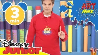 Art Attack Bastelclip #10 - Realistische Bäume | Disney Junior