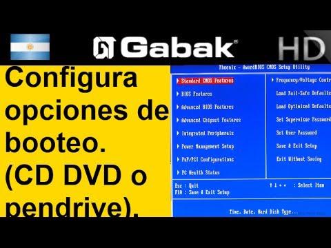 Como configurar bios arrancar dvd o dvd pendrive