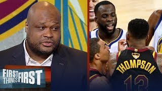 Antoine Walker's advice to Tristan Thompson on dealing with Draymond | NBA | FIRST THINGS FIRST
