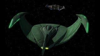 Romulan Bird of Prey vs Enterprise