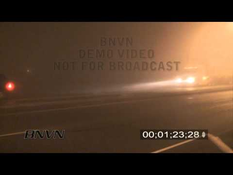 3/17/2009 Overnight Dense Fog Stock Video