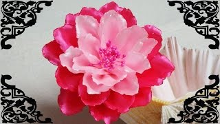 DIY Kanzashi flower,kanzashi tutorial,how to make ribbon flower