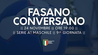 Serie A1M [9^]: Fasano - Conversano 26-27