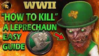 COD WW2- HOW TO KILL A LEPRECHAUN EASY (New Game Mode LEPRECHAUN HUNT)