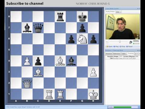 Norway Chess 2013 Round 5 Karjakin vs Carlsen