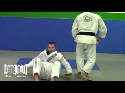 Knee on Belly Arm Bar Submission Technique - Gracie Jiu Jitsu Moves Image 1