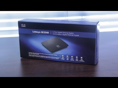 Linksys SE2500 5-Port Gigabit Ethernet Switch Unboxing