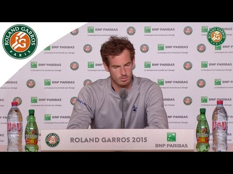 Press conference Andy Murray 2015 French Open / R128