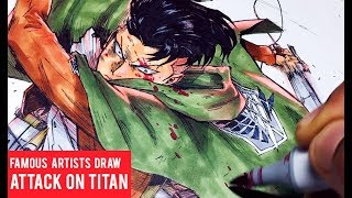 Famous Manga Artists Attack On Titan Drawings