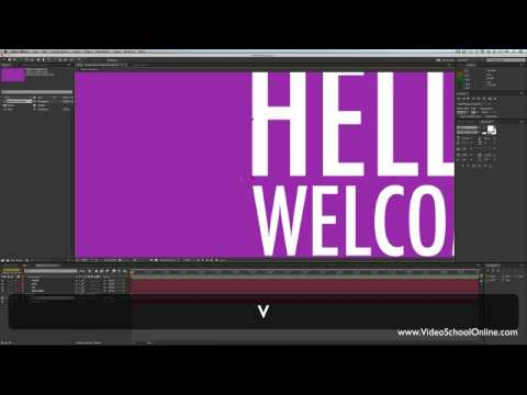 after effects tutorial basic motion graphics kinetic typography