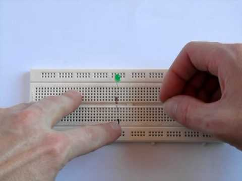 Simple Electronic Breadboard Circuit