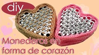 Monederos en forma de corazon para San Valentin / St. Valentines Heart Shaped Coin Purse